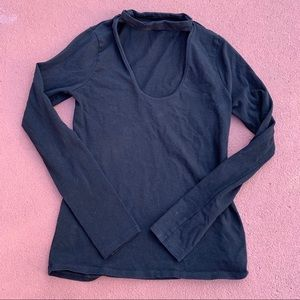 Cute black Express shirt with collar